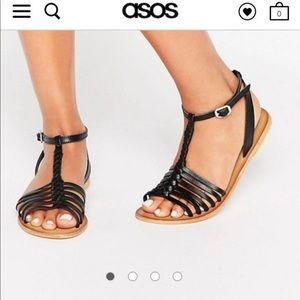 Black ASOS sandals size 9